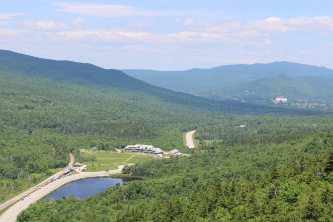 Cliff outlook, Rt. 302, Highland Center and Mt. Washington Resort