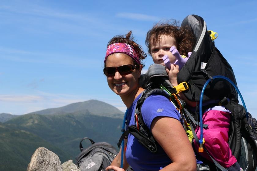 Mom & M at the summit of Mt. Jackson