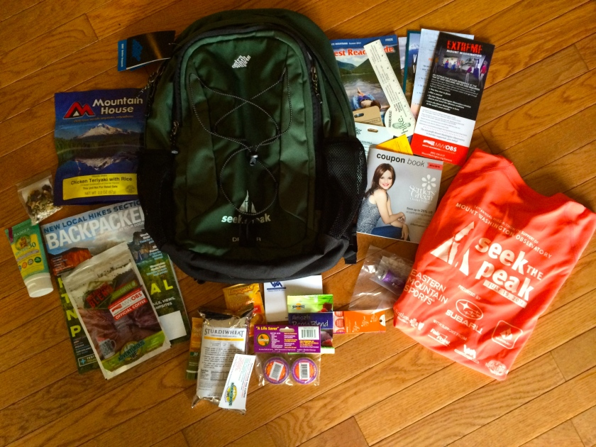 Goodie Bag from Seek the Peak