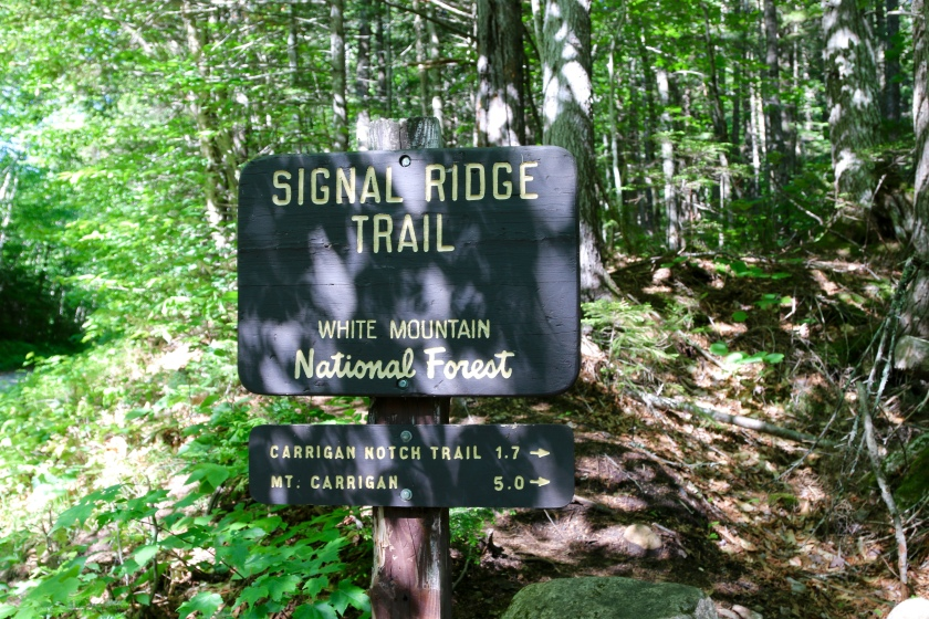 Trailhead for Signal Ridge Trail