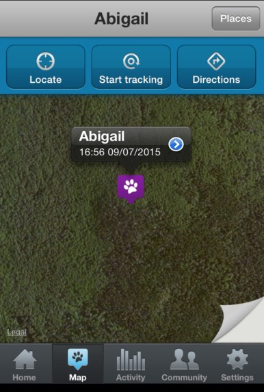Abby's location about right in the middle of no where